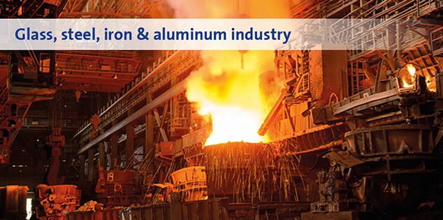 Glass, steel, iron & aluminum industry
